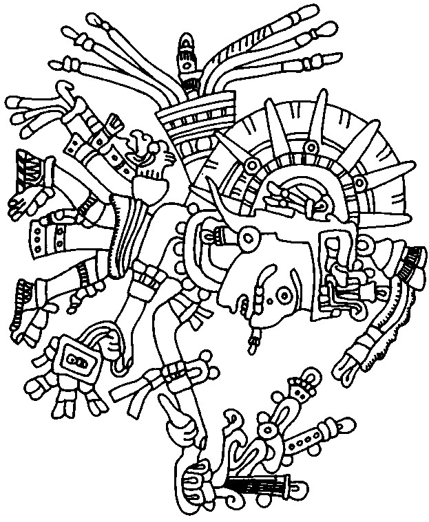aztec patterns colouring sheets aztec pattern coloring pages images pictures becuo